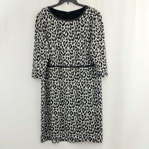 Talbots Plus Size Knit Dress Size 16W 3/4 Sleeves